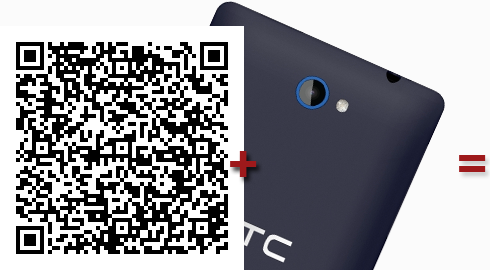 A QR Code with a phone camera